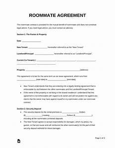 roommate agreement template free - free roommate room rental agreement template pdf