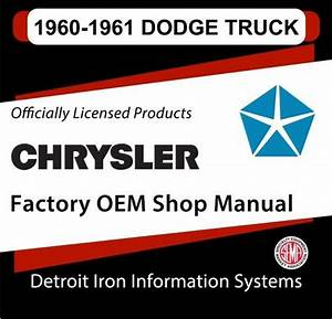 1960-1961 Dodge Truck Factory Oem Shop Manuals On Cd