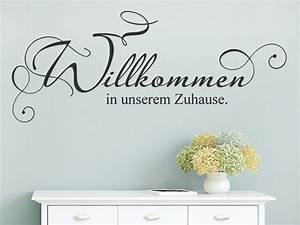Zu Hause Zuhause : wandtattoo willkommen in unserem zuhause ~ Markanthonyermac.com Haus und Dekorationen