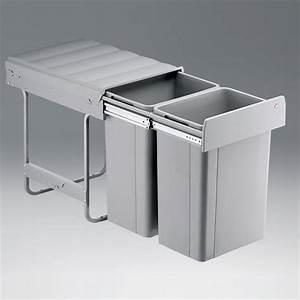 Einbau Mülleimer 2 Fach : einbau abfallsammler 52 l vollauszug alugrau 2 fach ~ Watch28wear.com Haus und Dekorationen