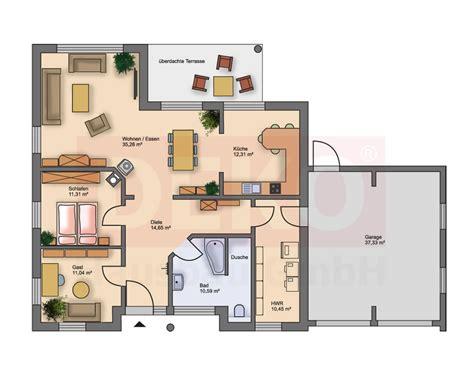 Bungalow Planen Grundriss by Bungalows Deko Hausbau Gmbh