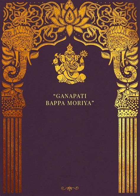ganpati invitation template hd   hindu wedding