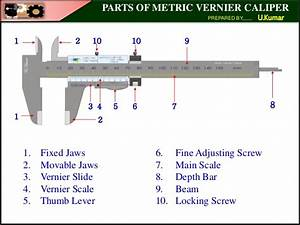 Parts Of Metric Vernier Caliper