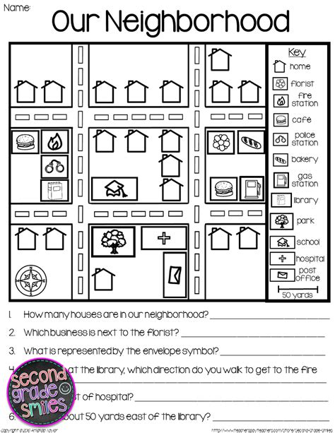 map skills reading maps printables map task