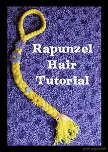 Make a Rapunzel with Yarn Hair