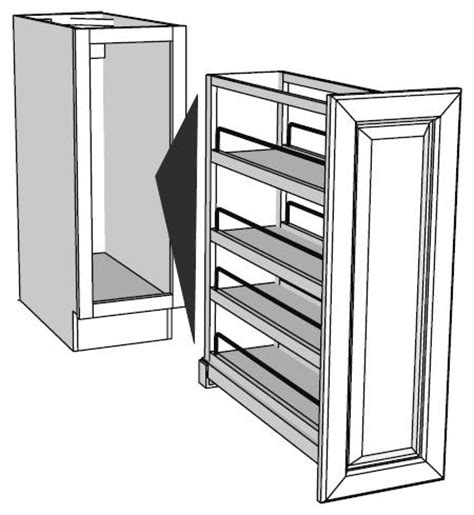 Pull Out Base Cabinet Organizers Full Insert Rta