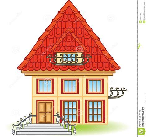 Casa Fumetto by Casa Fumetto Con Il Balcone Fotografia Stock