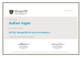 certified mongodb  courses joy  data