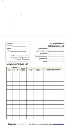 printable sign  sheets  checklists  stage managers