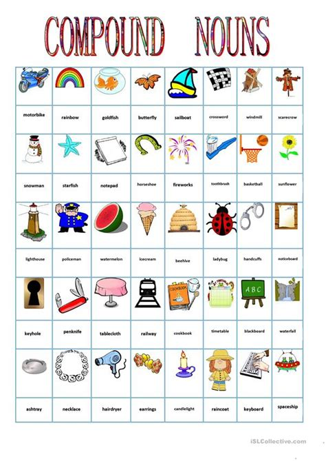 compound nouns worksheet free esl printable worksheets