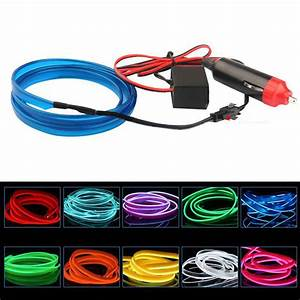 Neon Led 12v : 2m el wire flexible led neon strip cold light strip rope tape 12v car interior decor fluorescent ~ Medecine-chirurgie-esthetiques.com Avis de Voitures