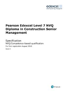 NVQ and competence-based qualifications (QCF