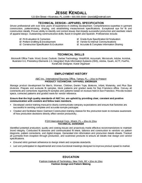 Fashion Resumes Examples  Best Resume Collection