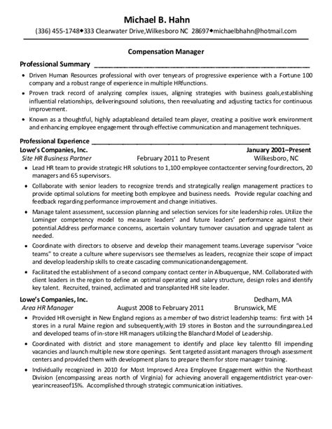 michael hahn resume comp benefits