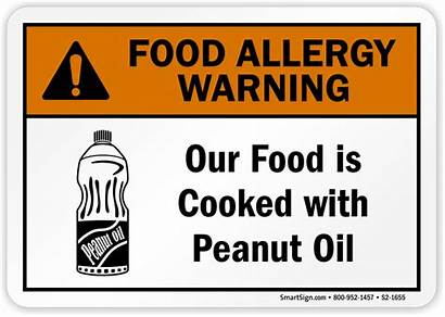 Allergy Peanut Oil Cooked 1655 S2 Warning