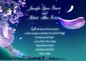 bridal shower honeymoon fund fancy fairytale floral blue wedding invitations