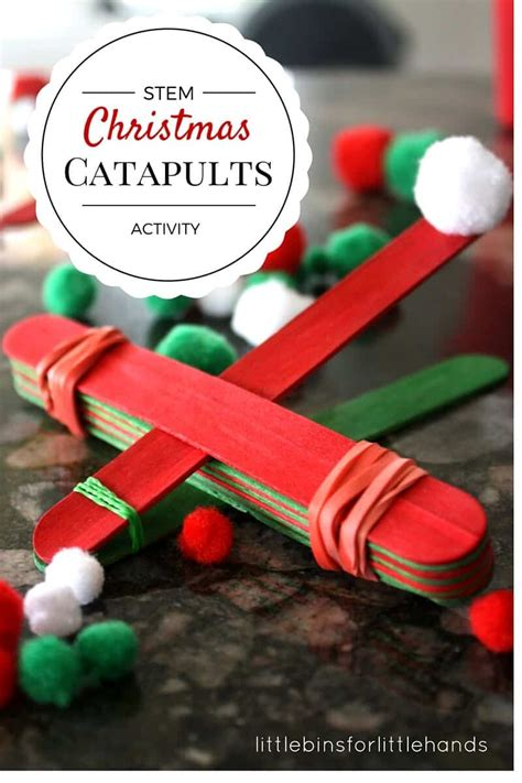 christmas stem activity simple catapult  kids