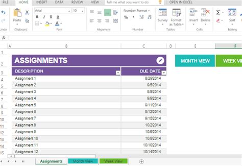 room planner excel student assignment planner template for excel
