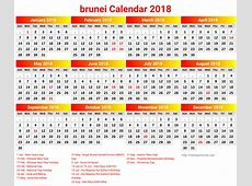 Brunei calendar 2018 with holidays list 2018 Calendar