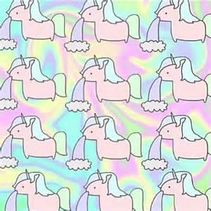 Unicorn Rainbow Pattern Wallpaper