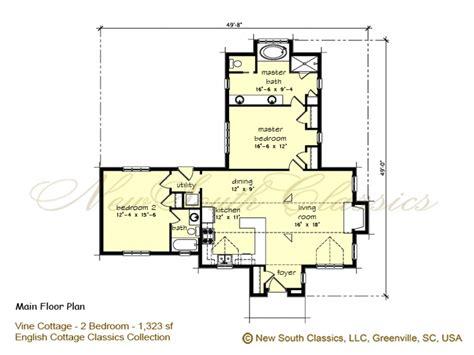 cottages floor plans 2 bedroom house plans with open floor plan 2 bedroom