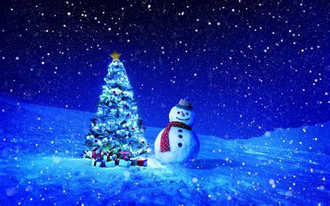 Hintergrundbilder Neujahr Weihnachtsbaum Schnee Schneemänner Nacht