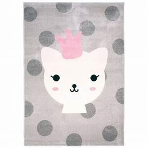 Tapis Pour Chambre Enfant : tapis pour chambre d 39 enfant gris lola polka nattiot ~ Melissatoandfro.com Idées de Décoration