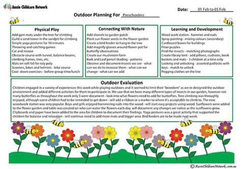 outdoor curriculum planning template aussie childcare