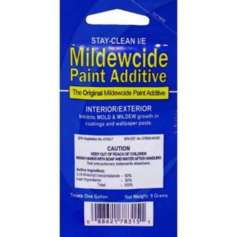 walla walla stay clean  mildewcide paint additive