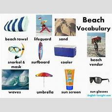 Learn English Beach Vocabulary Youtube