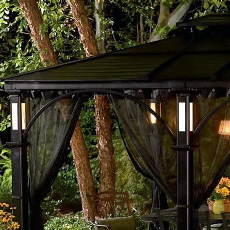 garden oasis led hardtop gazebo netting set garden winds