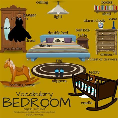vocabulary bedroom esl efl english vocabulary