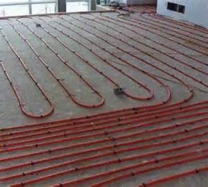in floor heating options