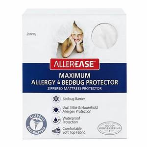Allerease maximum allergy bed bug protection zippered for Allerease bed bug mattress protector reviews