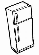 Freezer Drawing Fridge Getdrawings Coloring sketch template