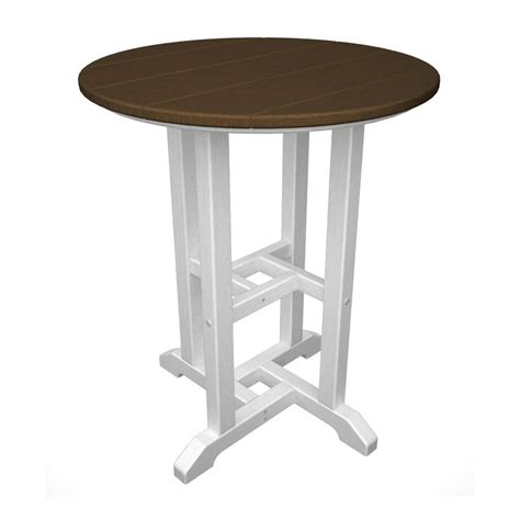 24 x 24 dining table shop polywood contempo 24 in w x 24 in l round plastic