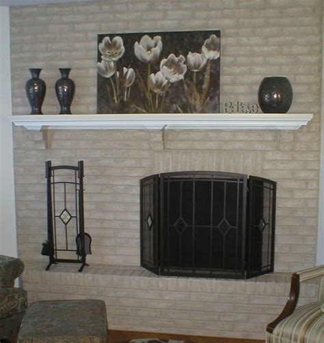 painted brick fireplace brick fireplace makeover for season brick anew