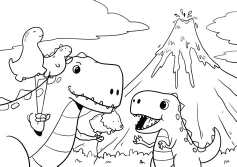 This coloring pages was posted in may 25, 2017 at 3:18 pm. Trex Coloring Page - T-rex Coloring : Mare and foal ...