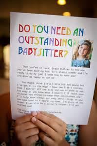 Cute Babysitting Flyer Ideas