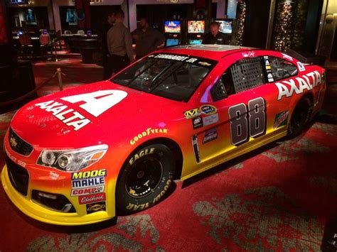 wow dale jr sees red   eye popping paint scheme