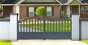 Portail Alu 3m : portail aluminium 3m adelaide hauteur 120 140cm double ~ Edinachiropracticcenter.com Idées de Décoration