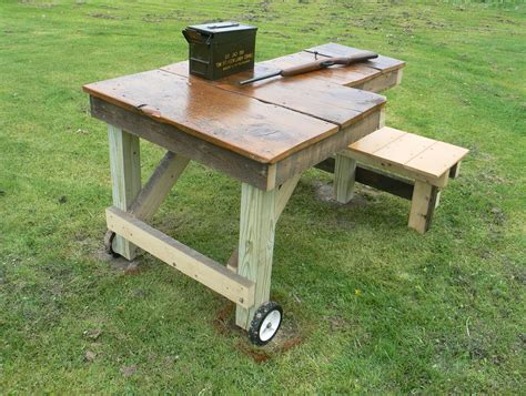 shooting bench plans build home design ideas