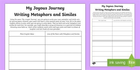 ks2 my journey writing metaphor and simile