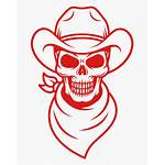 Cowboy Skull Clip Simple Hat Bull Svg