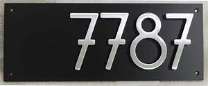 House number styles, modern house number plaque