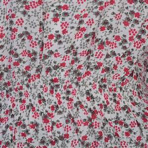 Floral Pattern Screen Printed One Size Smocked Waist Dress