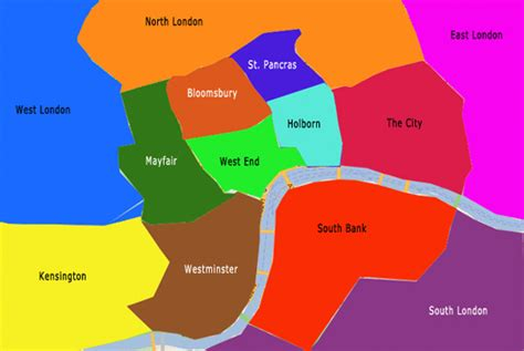 Map Of London Neighborhoods Russell Square