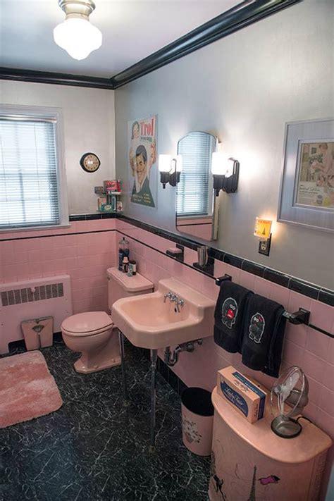 black and pink bathroom ideas robert 39 s pink and black bathroom makeover retro renovation