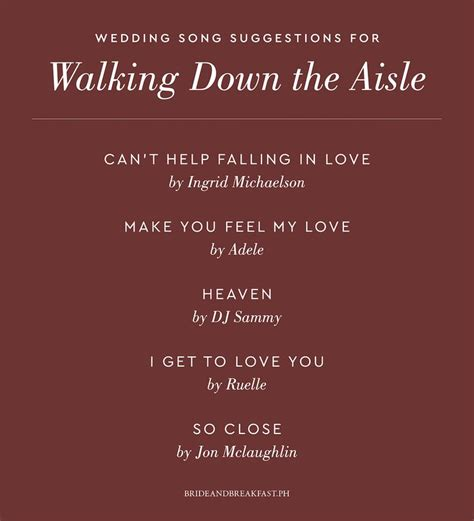 46 good wedding songs for bridal party to walk down the aisle. Wedding Music: What to Play and When to Play It | Wedding songs, Wedding ceremony songs, Wedding ...