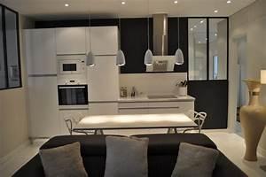 appartement 3 pieces et fonctionnelle cuisine ouverte With amenagement de jardin contemporain 16 amenagement salle 224 manger moderne meublespeinture deco